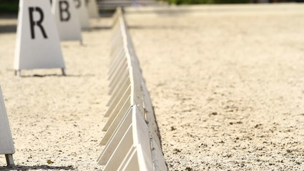 Horse Dressage Rings  and field fence