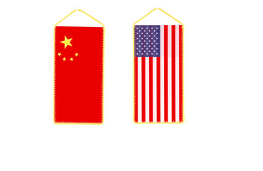 American and Chinese flag