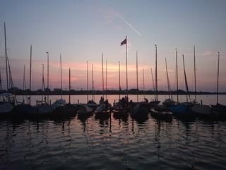 Hamburg Aussenalster, Sommerabend