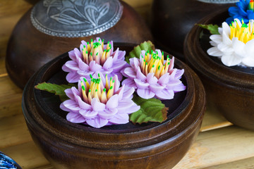 Soap carving flower souvenir for tourist
