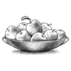 Engraved apples
