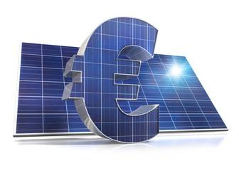 Euro + Solarpanel