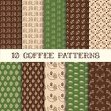 Fototapety Ten coffee patterns