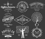 Fototapety Coffee badges white