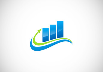 finance arrow graph vector logo