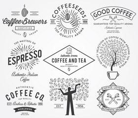 Coffee badges black