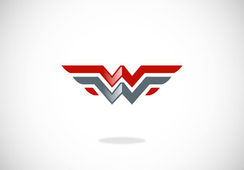 wings abstract symbol vector logo