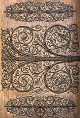 Door detail of Notre Dame de Paris Cathedral, Paris