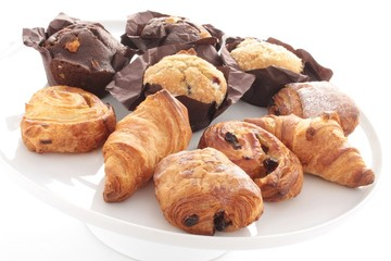 croissants pastries pain au chocolate