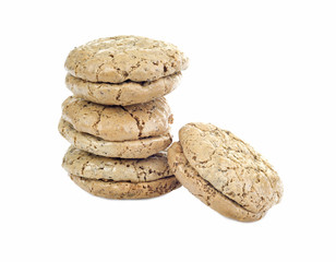walnut  cookies isolated on white background