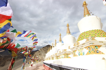 Stupas at Thiksey