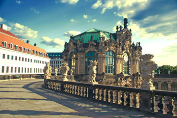 Wall pavilion at the north end of the Zwinger in Dresden