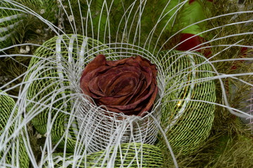 Dried rose bouquet.