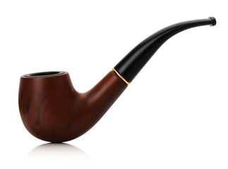 Tobacco pipe isolated on white background