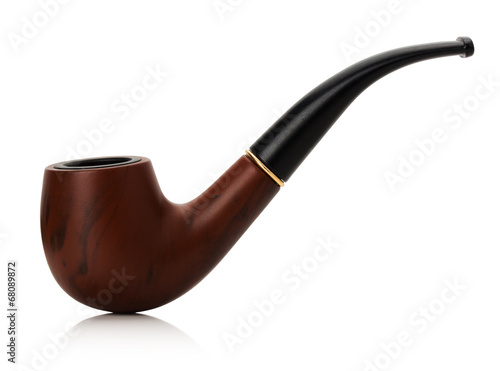 Tobacco pipe isolated on white background Poster