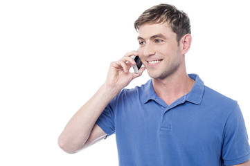 Casual man calling on the cell phone