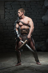 Gladiator with two swords