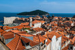 The rooftops and harbour, Dubrovnik, Croatia