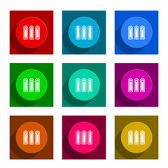 battery flat icon vector set
