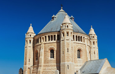 View of Church of Dormition on Mount Zion, Jerusalem