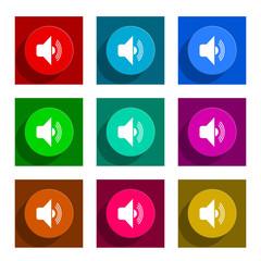 volume flat icon vector set