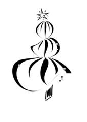 weihnachtsbaum - schwarz - filigran