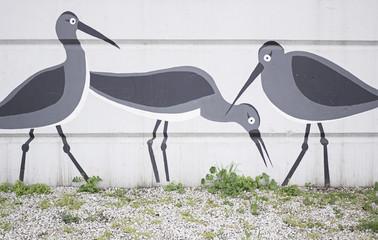 Graffiti Storks
