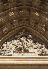 Tympanum in the Cathedral of Seville