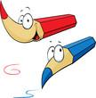 funny colored pencils cartoon