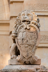 Lion guarding the main gate of Mdina