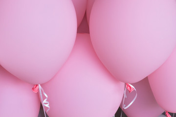 detail of pink balloons background
