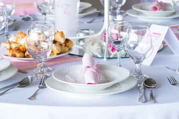 gorgeous wedding chair and table setting for fine dining