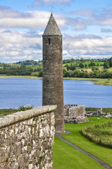Round tower of Devenish Island Monastic Site, Northern Ireland
