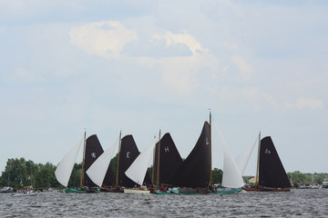 traditional dutch sailing boats