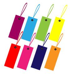 Color guide label design vector set