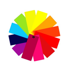 Color guide spectrum illustration vector