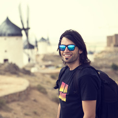 Portrait of a man in Consuegra, Toledo, Spain.