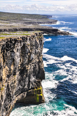 Cliffs of Inishmore, Aran islands in Ireland