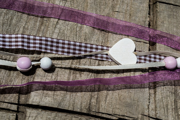 countryside, wooden hearts, Valentine's Day, Decoration