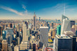 Manhattan aerial view