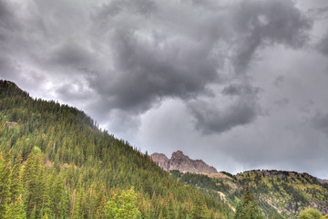 CO-near Ouray on a mountainous old logging and mining road