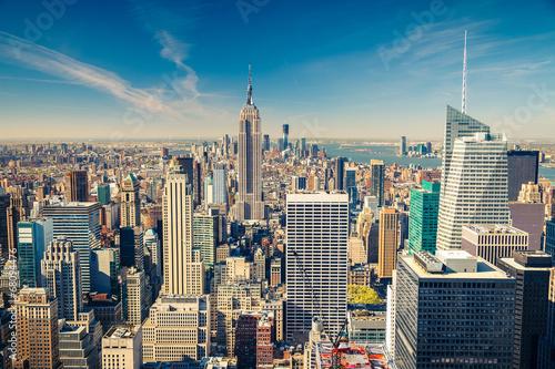 Fototapeta Manhattan aerial view
