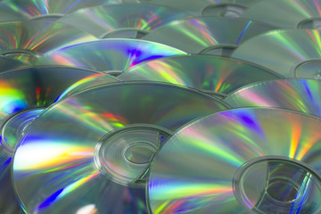 colorful light Dvd surface