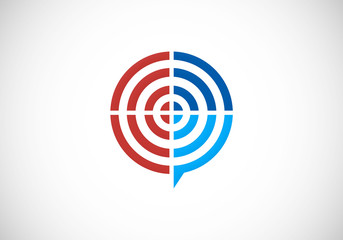 target abstract vector logo