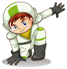 A young male explorer