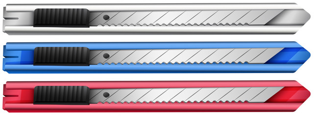 Three cutters