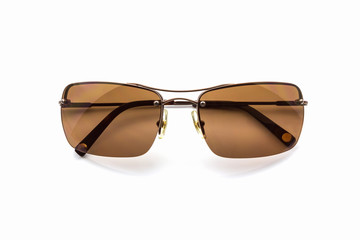 Stylish brown sunglasses.