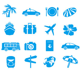 tourism icons Vector