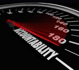 Accountability Speedometer Automotive Recall Blame Responsibilit
