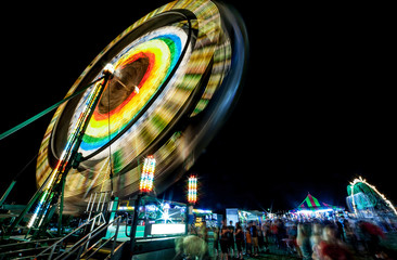 Spinning rides at the county fair
